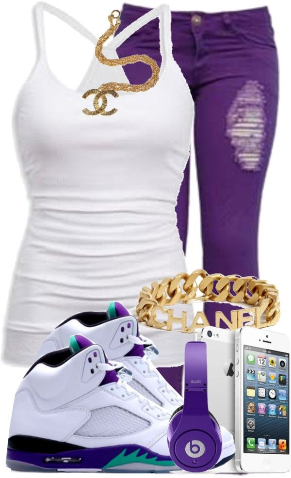 U0026quot;Grape 5u0026#39;s!!u0026quot; by mindlessnickiswag4ray liked on Polyvore | Polyvore | Pinterest | Kids jordan ...