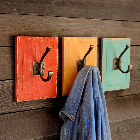 Crochet d'entrée porte-manteau couchette maison 3 pièces ensemble porte-sac à dos de retour à l'école crochet de chapeau organisation du vestiaire dortoir décor porte-manteau   – diy