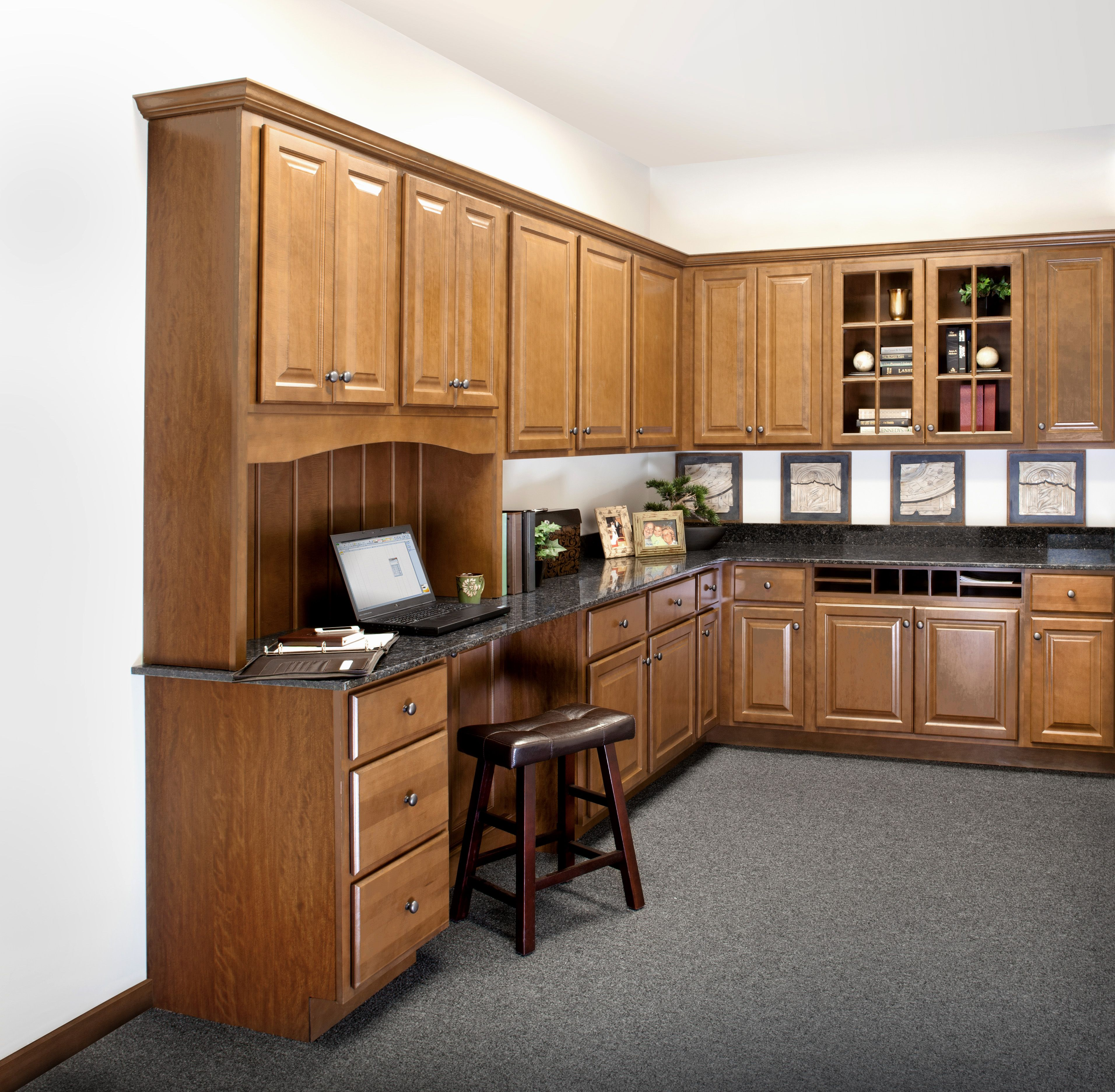 Wolf Classic Cabinets In Saginaw Make A Classic Office Space Kitchen Cabinets Classic Kitchen Cabinets Classic Kitchens