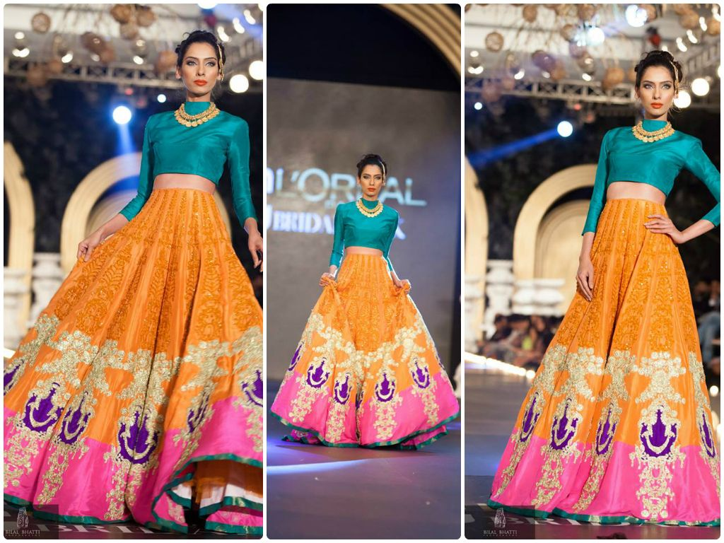 Lehenga For Mehndi Ceremony : Colourful lehenga desi rang excercise