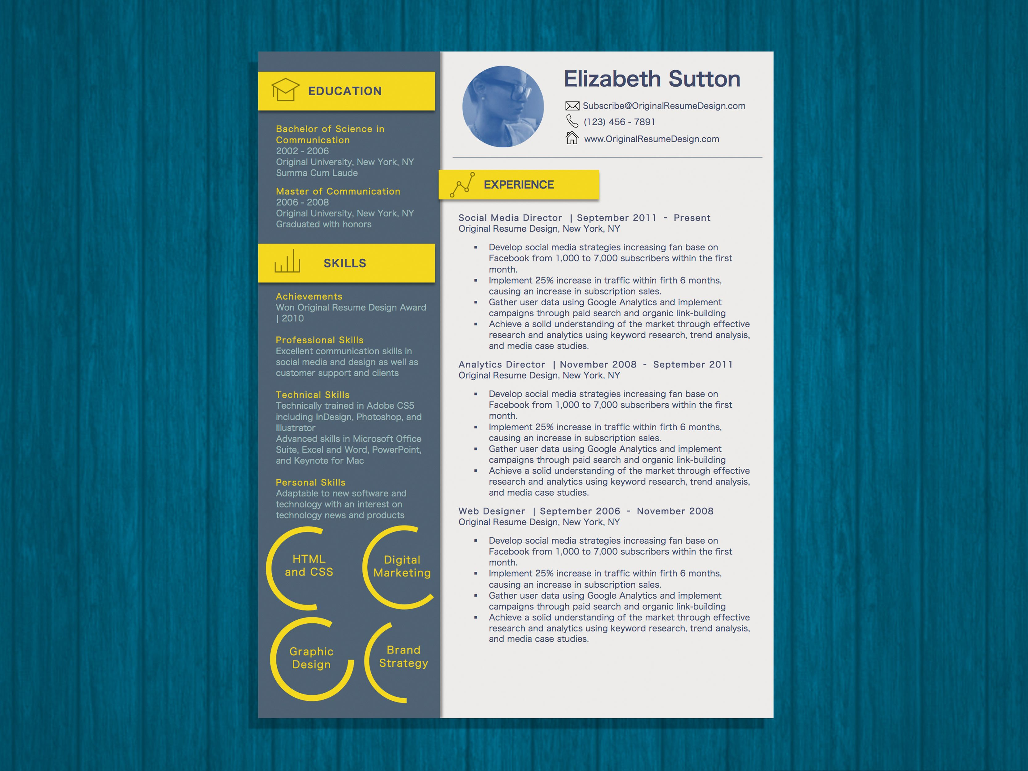 modern ui user interface inspired resume word template ui