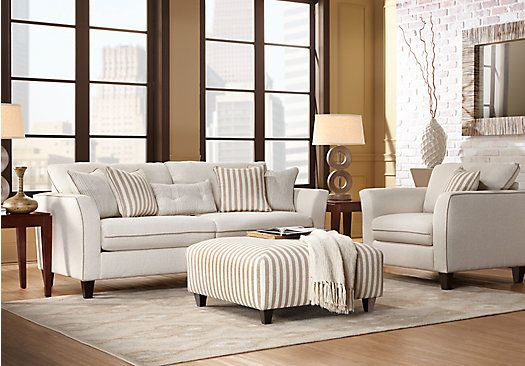 Shop For A East Shore Cream 3 Pc Living Room At Rooms To Go Find Sets That Will Look Great In Your Home And Complement The Rest Of