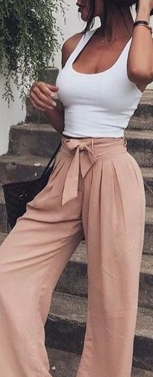 Women Trendy Wide leg Pants for summer outfits #SummerStyle #ShopStyle #OOTD #No…