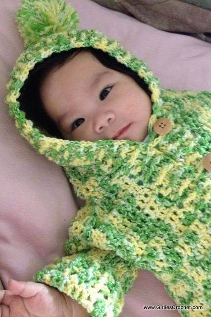 Free crochet pattern: Baby Hooded Sweater with photo tutorial in ...