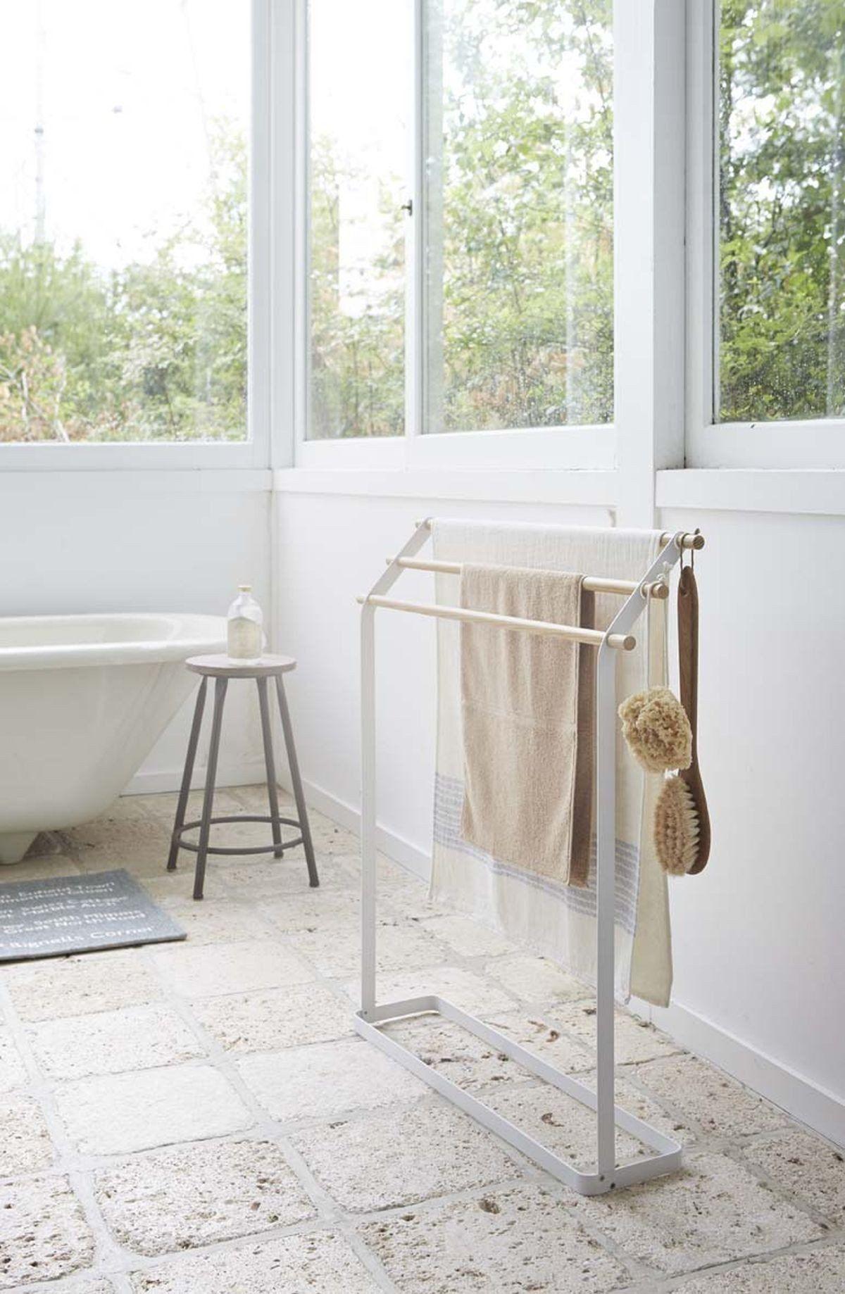 Tosca Bath Towel Hanger in White design by Yamazaki | Hanger, Towels ...