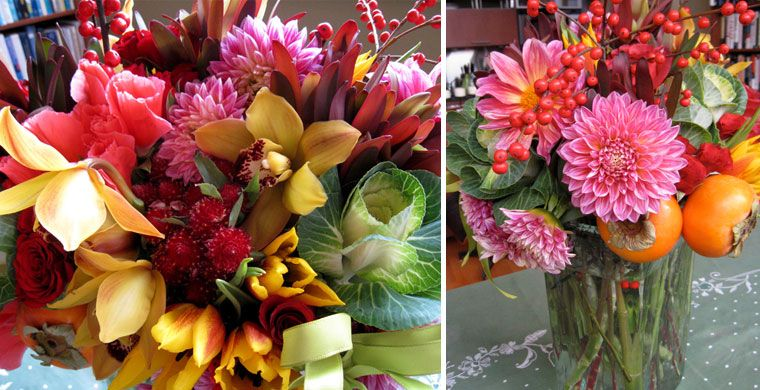 Orchid Dahlia Persimmon Cabbage Flower Arrangements Flowers Garden Of Earthly Delights