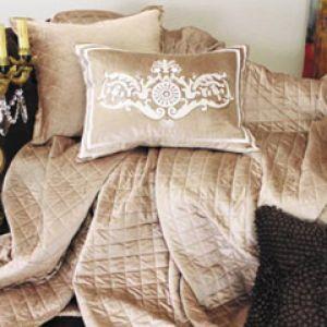 Lili Alessandra Chloe Diamond Quilted Velvet Champagne Coverlet or Set.jpg