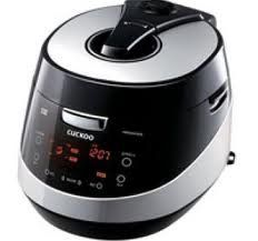 Black and silver Cuckoo rice cooker - the best Korean rice cooker