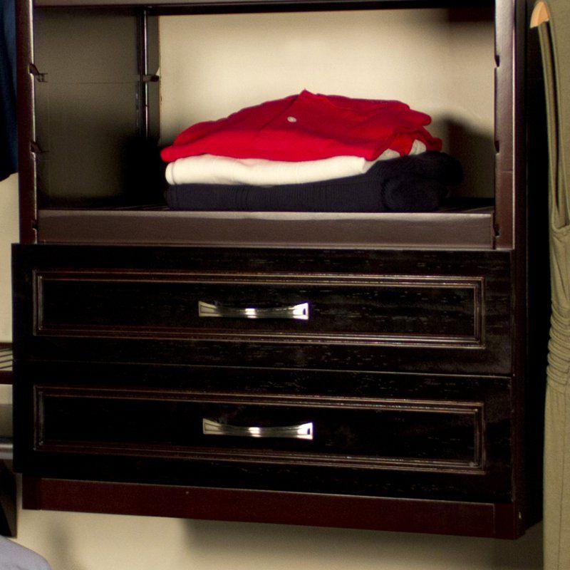 Depth Woodcrest Closet Drawer   JLH 55
