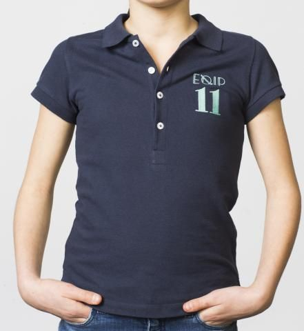 GIRLS - EQIP-11 polo - navy. For girls who also want to radiate team spirit and sportsmanship off the field.