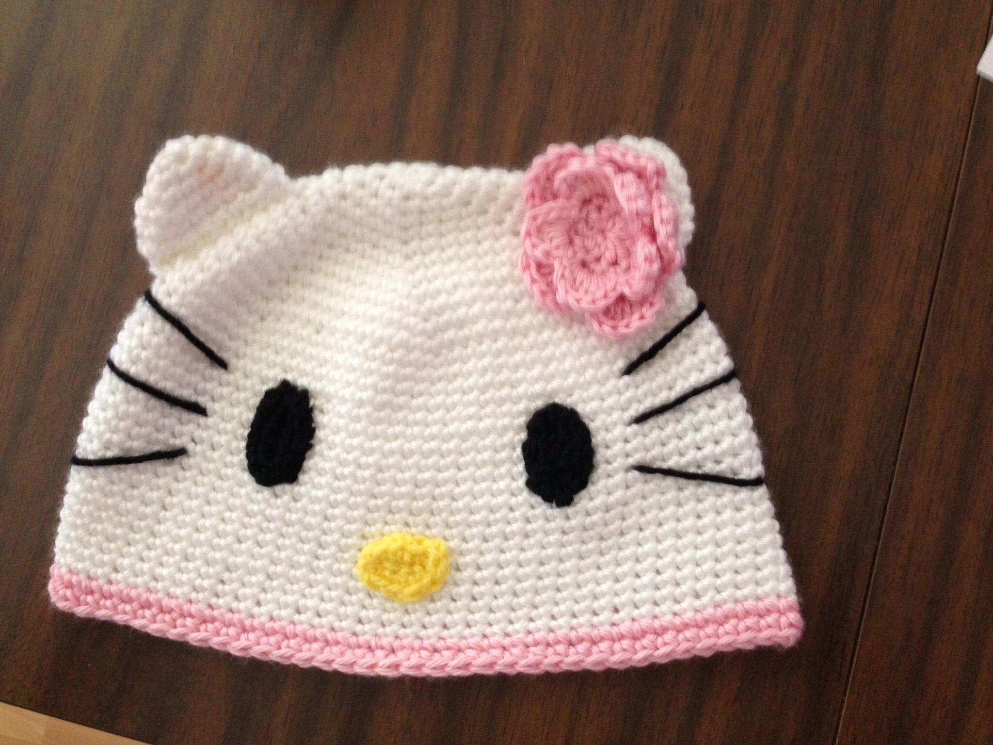 Hello kitty hat | Hello kitty, Knitting, Hats