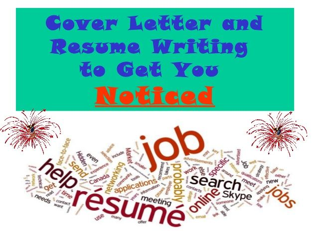 Cover Letter and Resume writing for High School Students Slideshow - resume writing cover letter