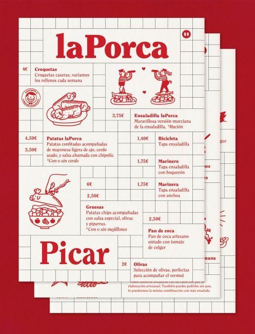 La Porca Restaurant Carles Murillo Print Layout Delicious Sandwiches Poster Design