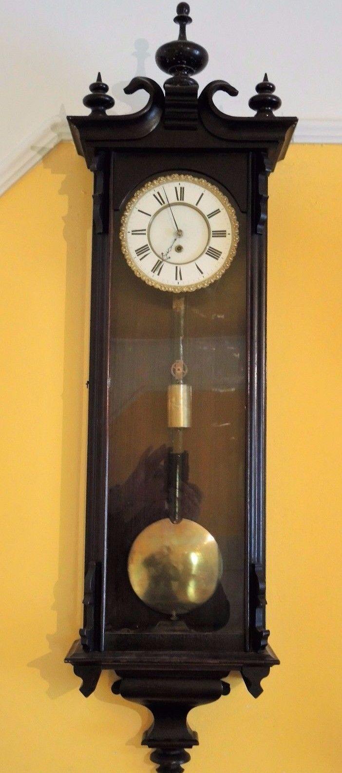 Antique Biedermeier Vienna Regulator Wall Clock  eBay