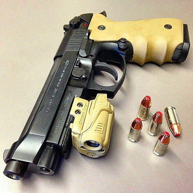 JPX4 Four Shot Pepper Gun w/Laser | dens gun board | Beretta