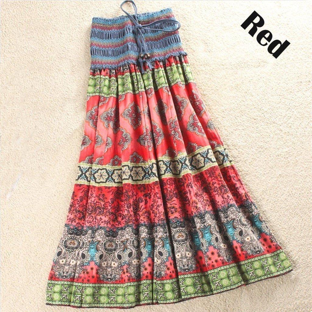 New bohemian long skirt cotton and linen womenus half length dress