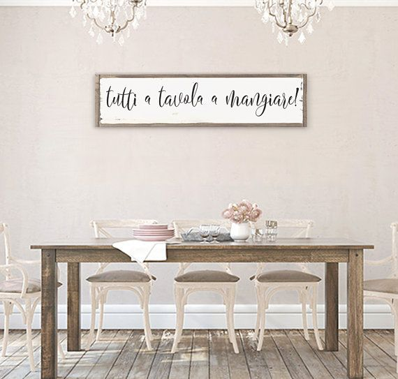 Tutti A Tavola A Mangiare, Eat Sign, Mangia Kitchen Sign, Mangia Bene Sign