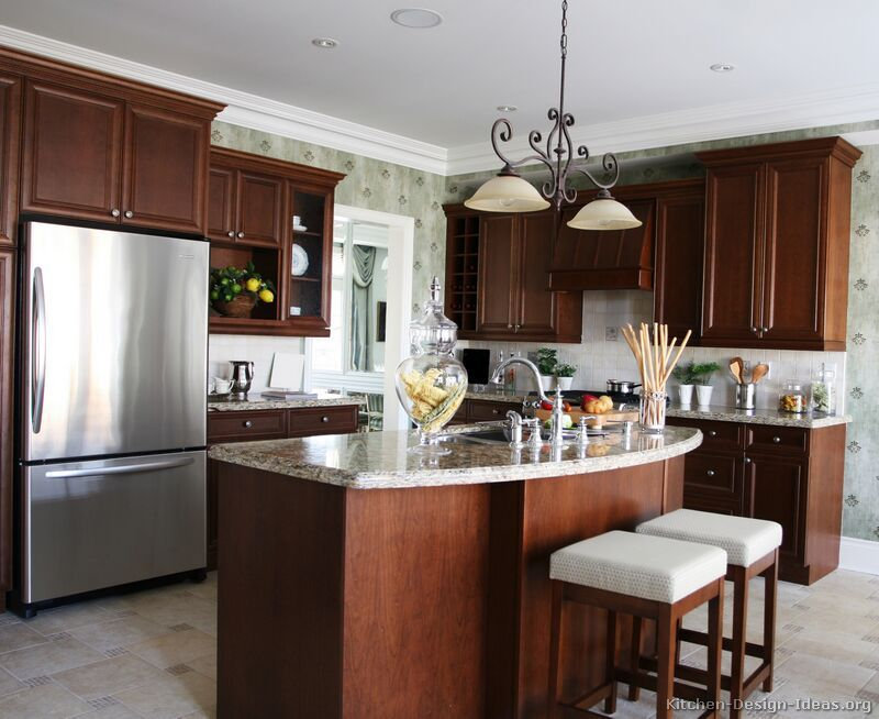 Best Pictures Of Kitchens Traditional Dark Wood Kitchens 400 x 300