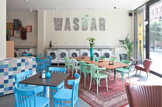 Wasbar A Cool, Functional Update on the Laundromat