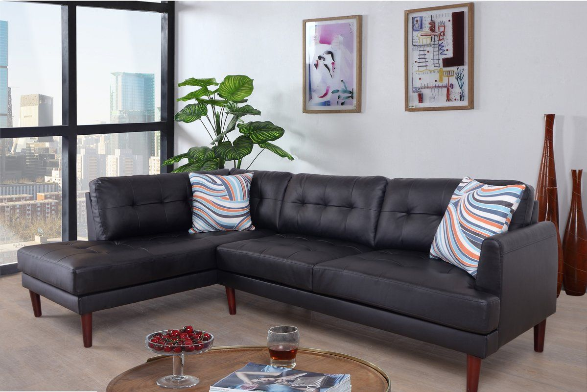 Bon Add A Touch Of Modern Flair To Your Home Decor With This Faux Leather  Sectional.