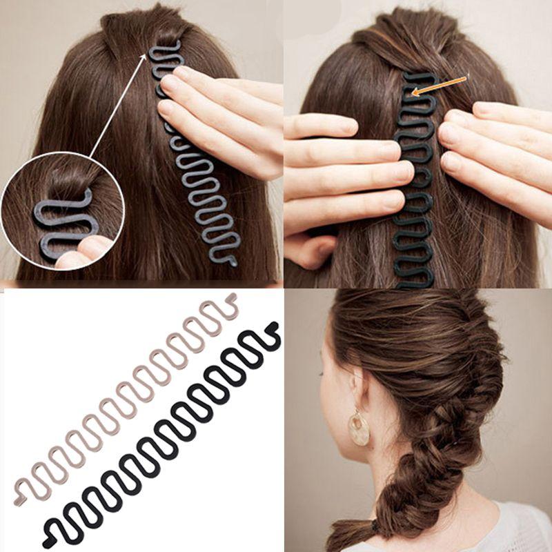 3 French Hair Braiding Tool Roller Magic Hair Plait Styling Braider Braiding