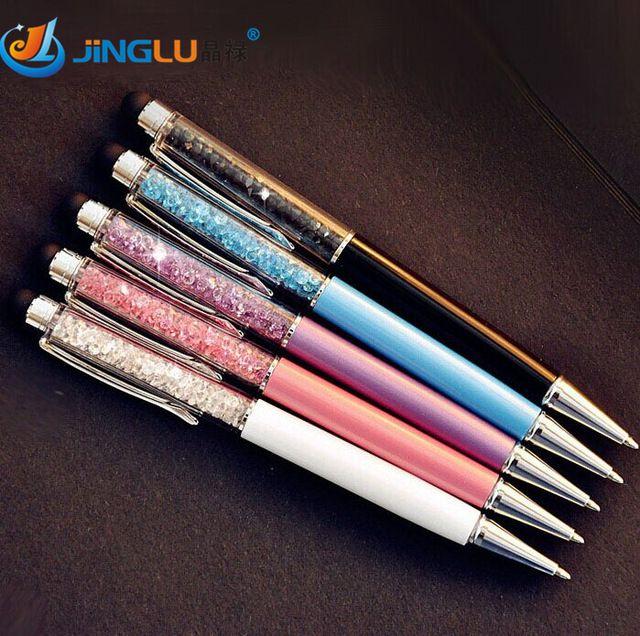 Novelty Rainbow Crystal Diamond Pen Ballpoint Pens Office School Stationery Gift