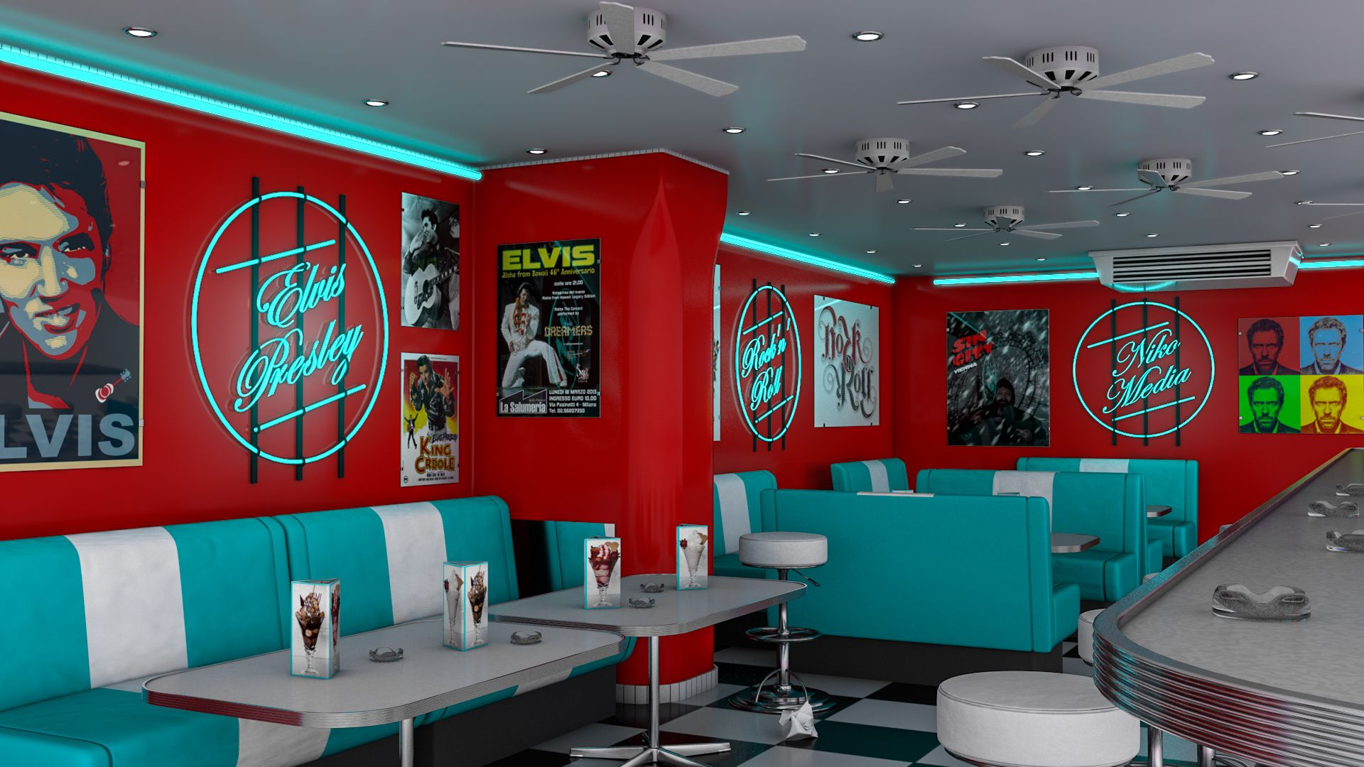 American diner buscar con google backgrounds for 50s diner style kitchen
