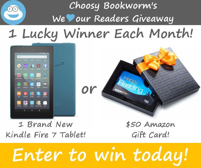 Choosy Bookworm We Love Our Readers Giveaway Book Worms Amazon Gift Cards Amazon Gifts