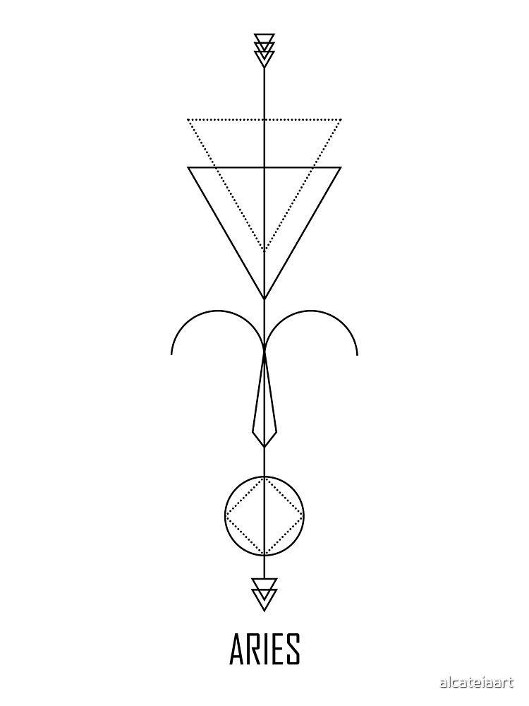 Aries Astrology – Zodiac Arrow Art Print by alcateiaart