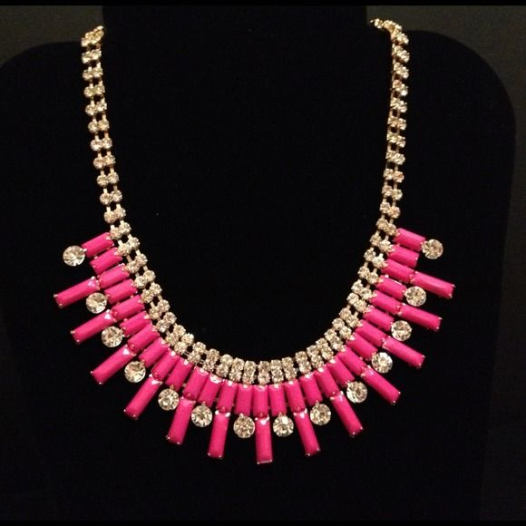 Pink necklace Cute and girly pink statement necklace Jewelry Necklaces