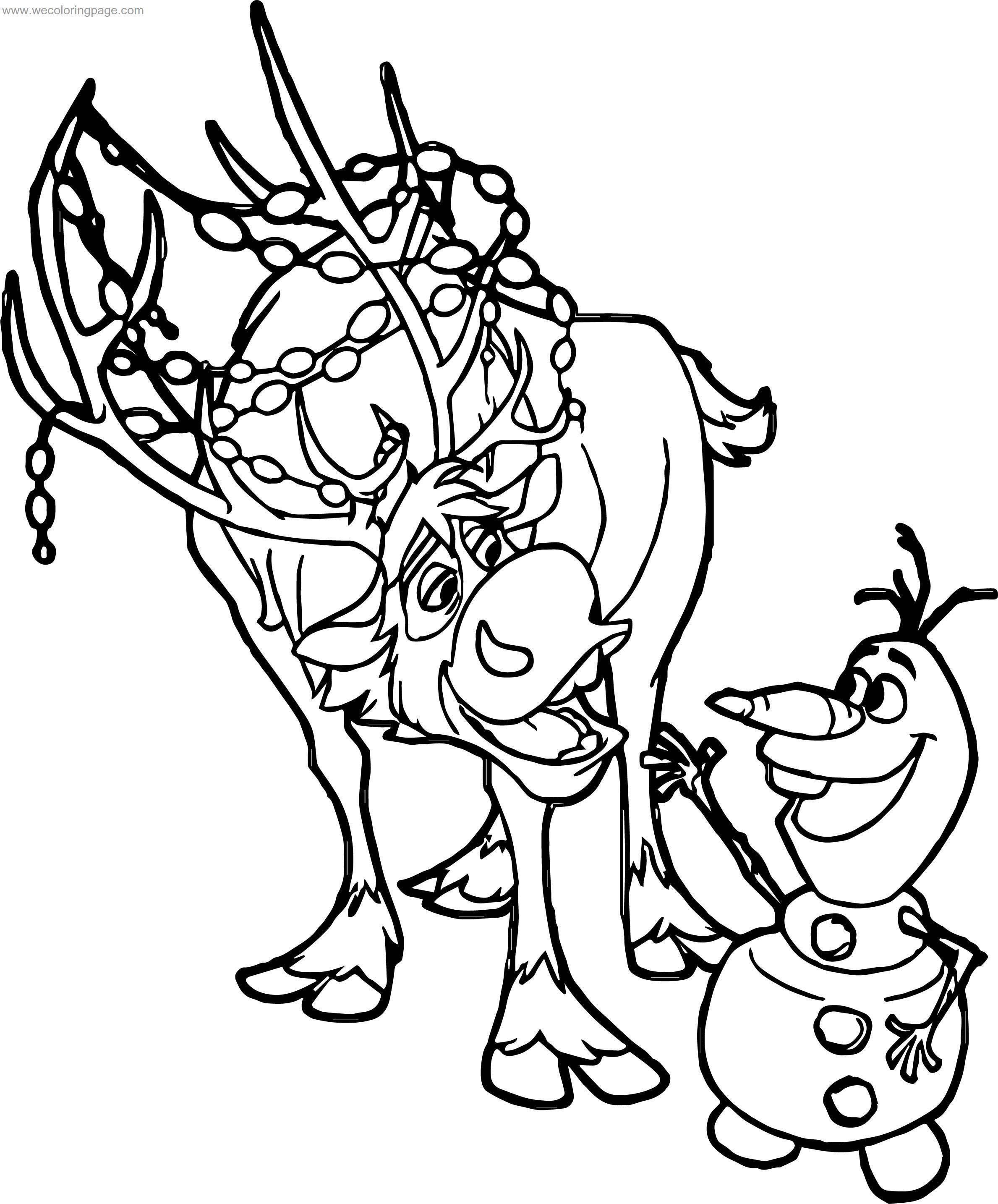 Frozen Sven And Olaf Coloring Pages Coloring Books Gifts Coloring Pages Mandala Coloring Books