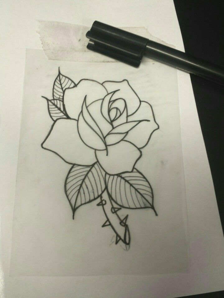 Neo Trad Rose Flower Tattoo Drawings Rose Outline Tattoo Neo Traditional Roses