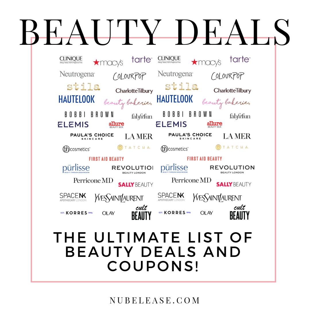 The Ultimate List Of Beauty Deals Coupons Beauty Deals Paula S Choice Skincare Makeup Help