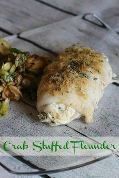 Crab Stuffed Flounder Recipe Flounder Recipes Seafood Dinner Seafood Recipes