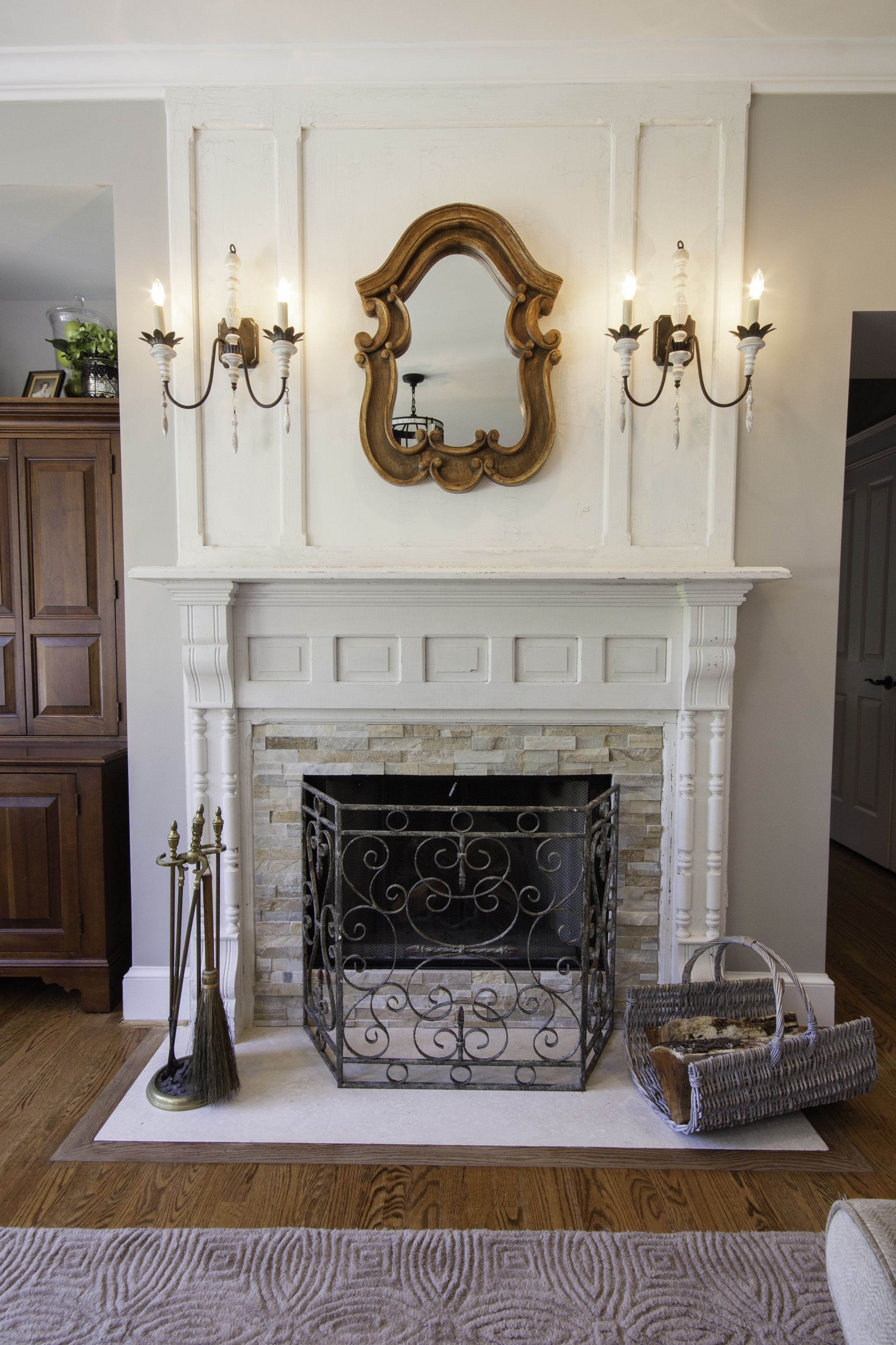 Salvaged Fireplace Mantle Traditional Living Room Images By