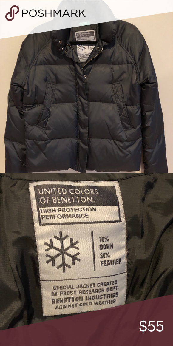 756c2f835 United Colors of Benetton Protection Winter Jacket High Protection  Performance Winter Puff Jacket 70% Down 30% feather. Special jacket by  Prost research ...