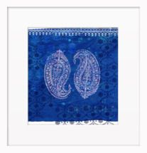 Paisley on Blue by Artfully Walls
