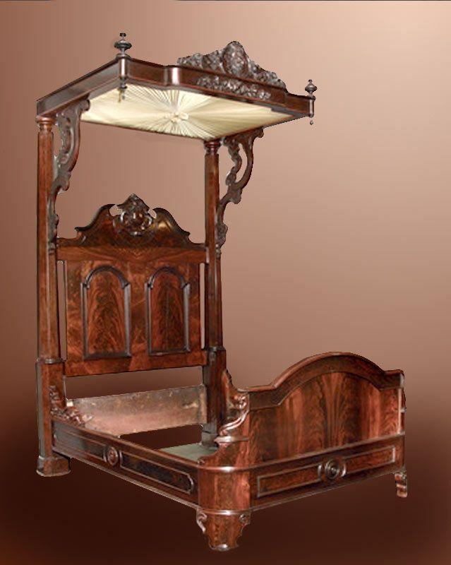 Pierre Mallard Furniture Antique | Tester Bed by Prudent Mallard of New  Orleans - Pierre Mallard Furniture Antique Tester Bed By Prudent Mallard