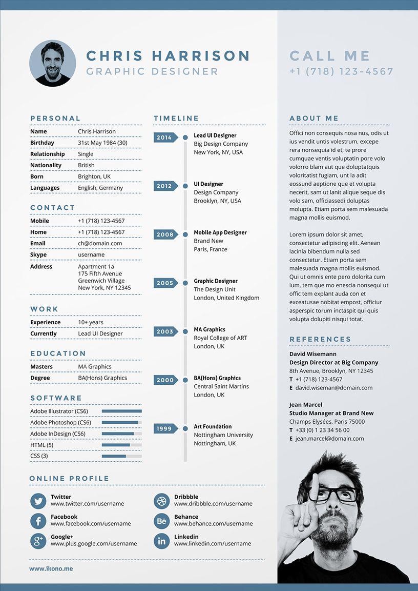 Creative Cv Cv Cv Templates Free Cv Template Infographic Cv Blue Cv Resume Graphic Designer Cv Creatif Design Cv Creatif Modele De Cv Creatif