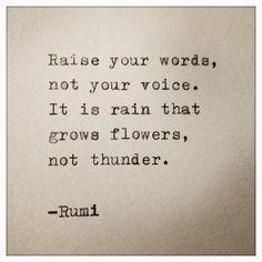 Zitat von Rumi auf Schreibmaschine getippt