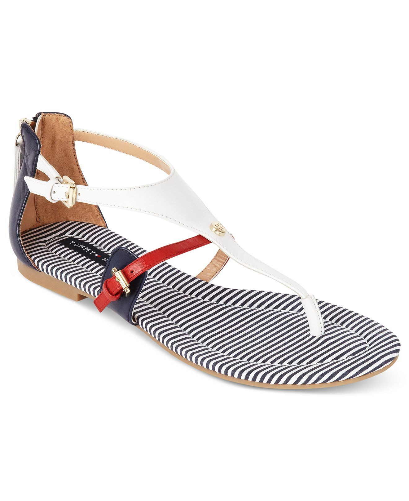 Tommy Hilfiger Baran Flat Thong Sandals - Tommy Hilfiger - Shoes - Macy's