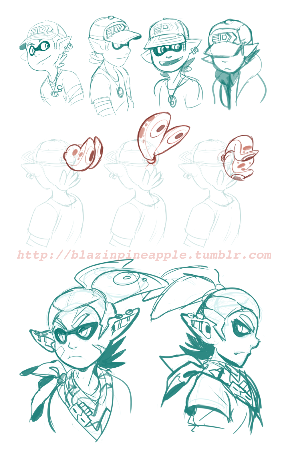 Splatoon stuff for today. Have to wake up early to help cook for Thankscraving Day. Still indecisive about wether to have Camino's tentacles pop out of his hat or not, but it seems to make more...