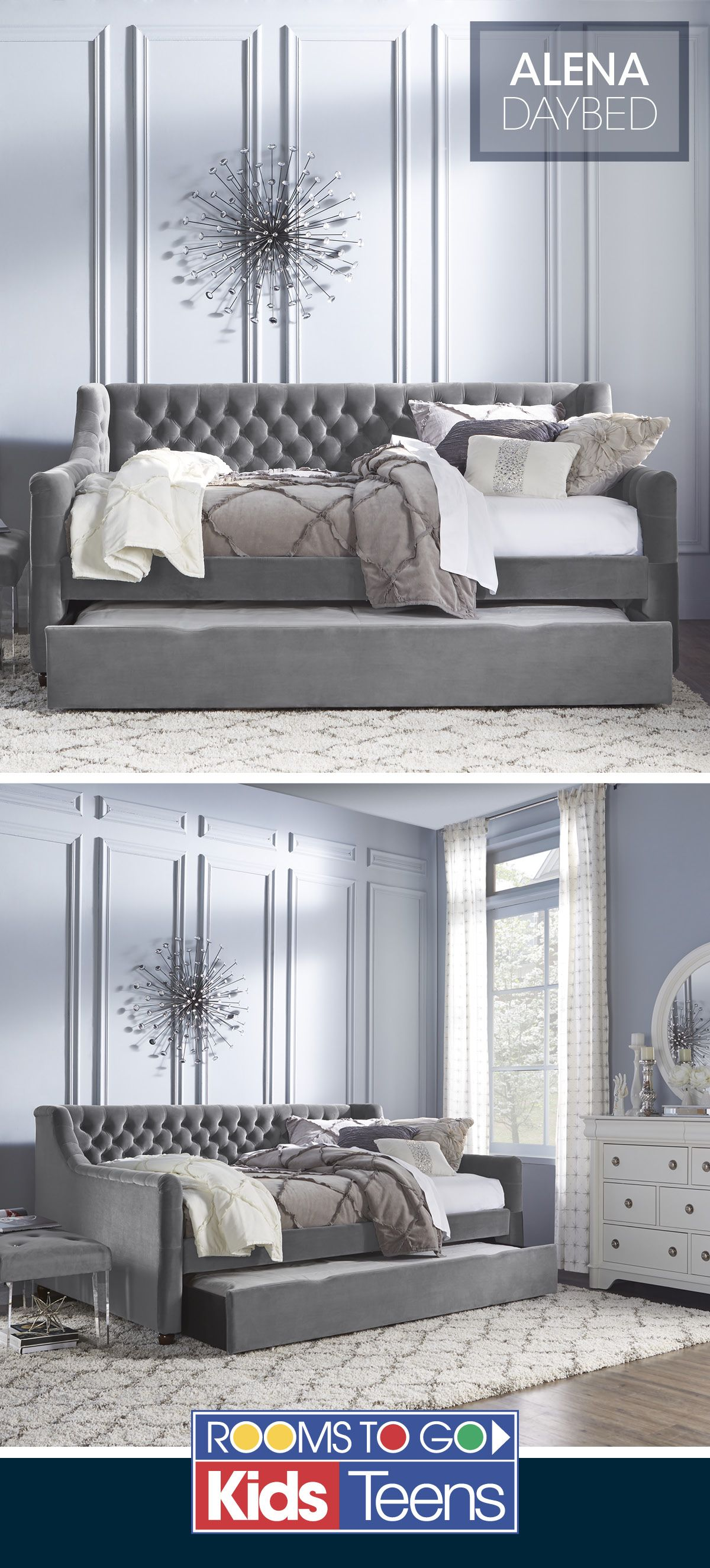 Soft Velvet Upholstery In A Stylish Charcoal Color Is Accented