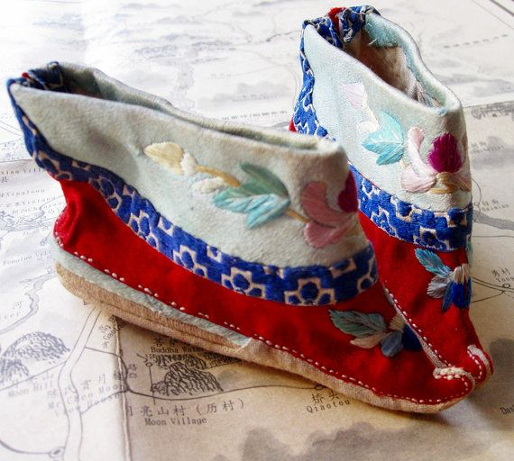 Antique Chinese Silk Shoes