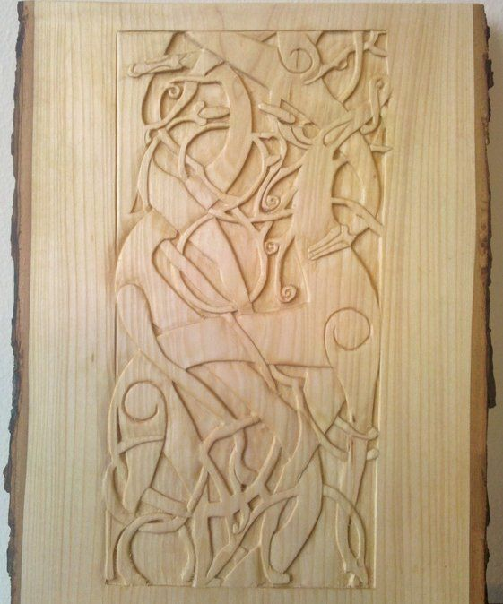 Celtic wood carving viking