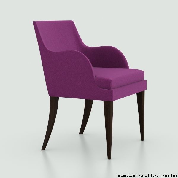 Basic Collection, Onda 03 #ondacollection #upholsteredarmchair  #furnitureinspiration #purple #armchair