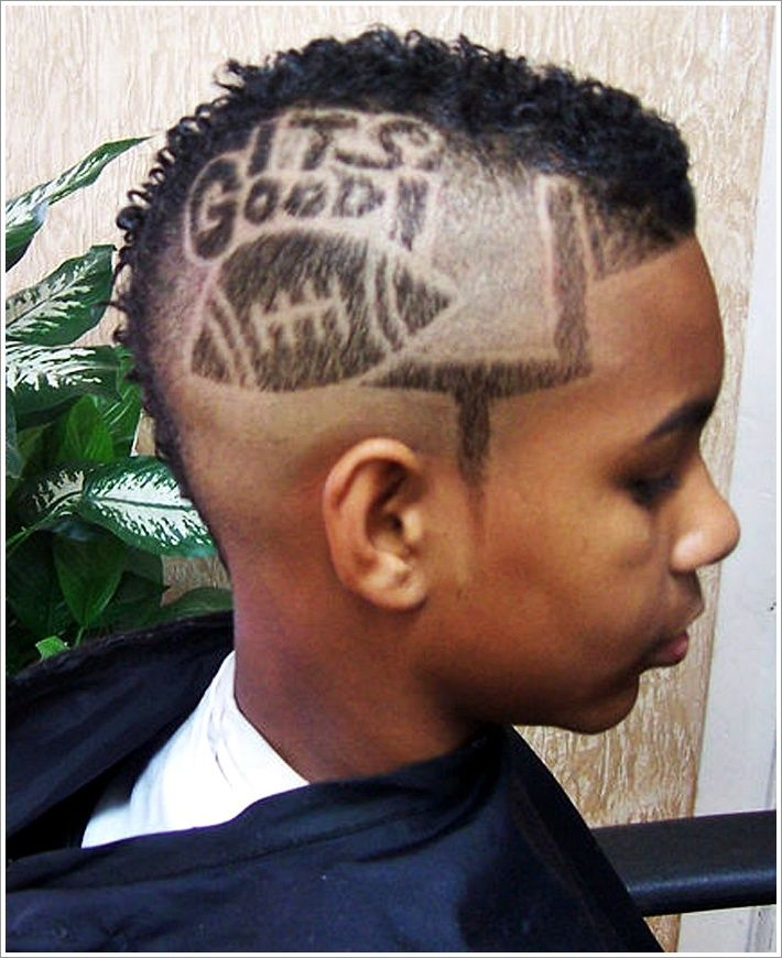 Punk Short Mohawk Hairstyles With Hair Tattoos For Men Mens - Cool boy hairstyle names