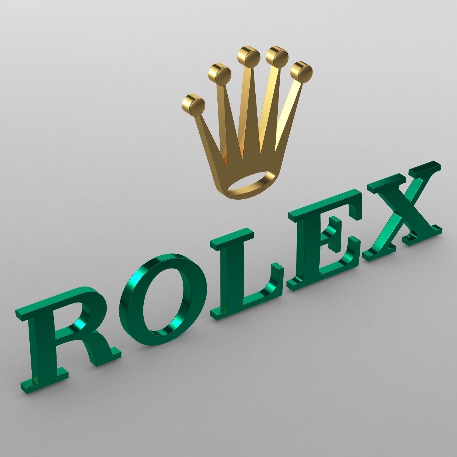 3d Rolex Logo Cgtrader Rolex Logo Rolex Luxury Watches For Men