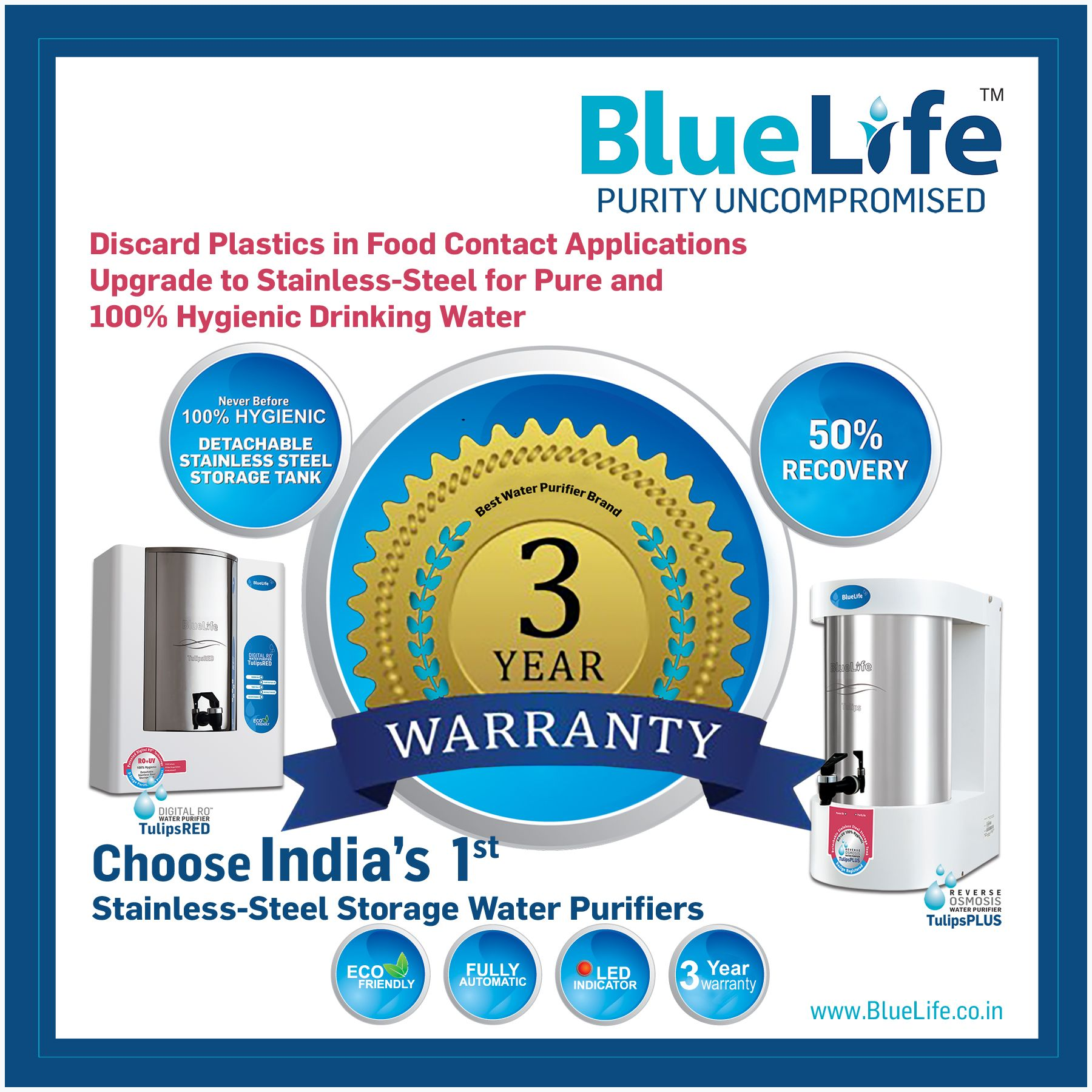 BlueLife™ Premium Range of Residential_Water_Purification