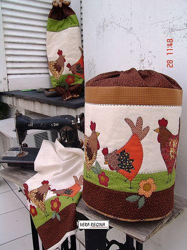 Decoracion con gallos